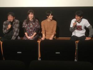 image1 「新しき民」」について語る、川瀬陽太さん、ほたるさん、西山真来さん、坂本礼監督(左から)