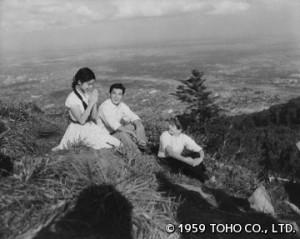 「コタンの口笛」から。藻岩山を訪れた3人