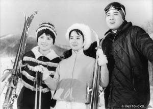 「香港の星」から。藻岩山と思われるスキー場を訪れた3人