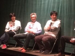 ピンク映画の現況について話し合う、右から田尻裕司監督、いまおかしんじ監督、坂本礼監督