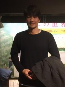 北海道愛を語った丸山智己さん。写真撮影にも気軽に応じてくれました。